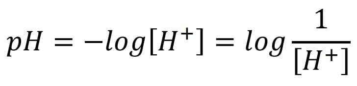 Expresión matemática que permite determinar el potencial de hidrógeno (pH).